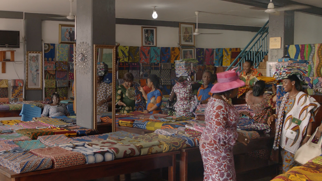 A Vlisco shop in Africa