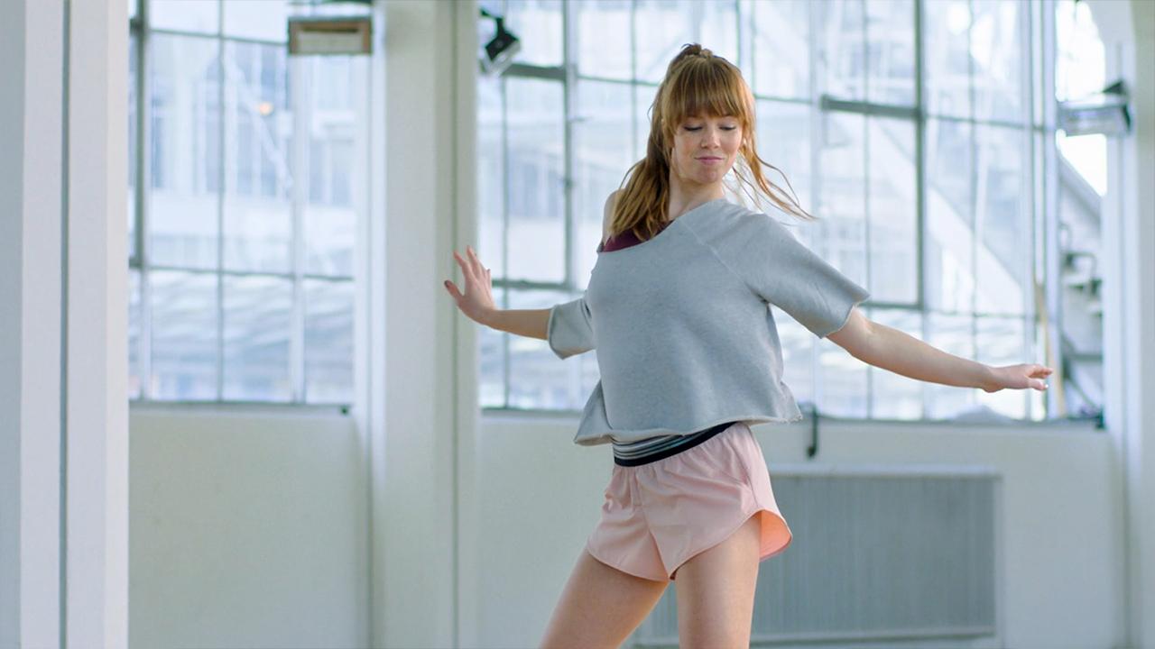 Dancing girl in Van Nelle Fabriek Rotterdam